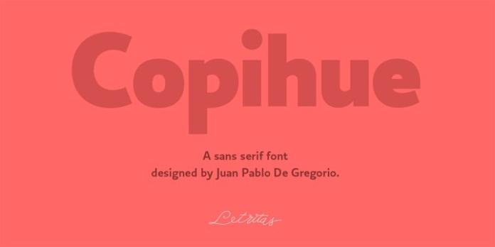 Copihue Font