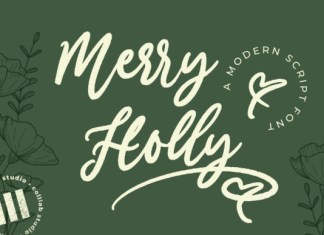 Merry Holly Font