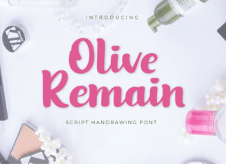Olive Remain Font