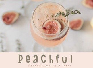 Peachful Font