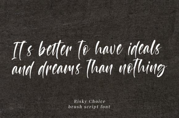 Risky Choice Font