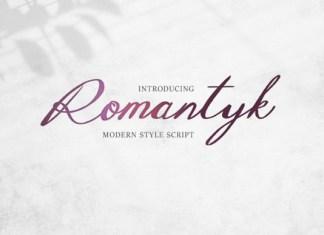 Romantyk Font