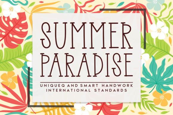 Summer Paradise Font