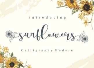 Sunflowers Font