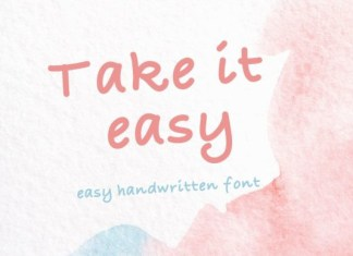 Take It Easy Font