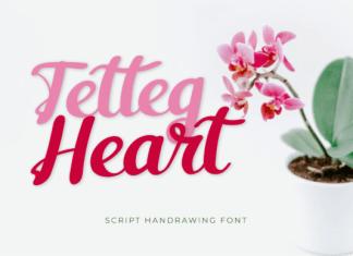 Tetteg Heart Font