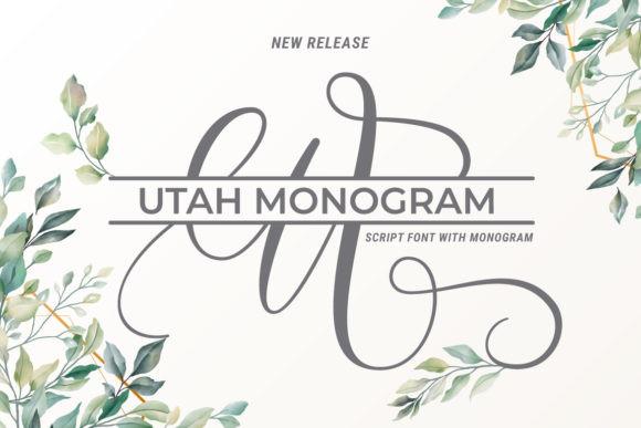 Utah Monogram Font