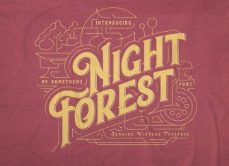 Night Forest Font