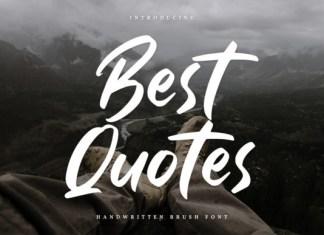Best Quotes Font
