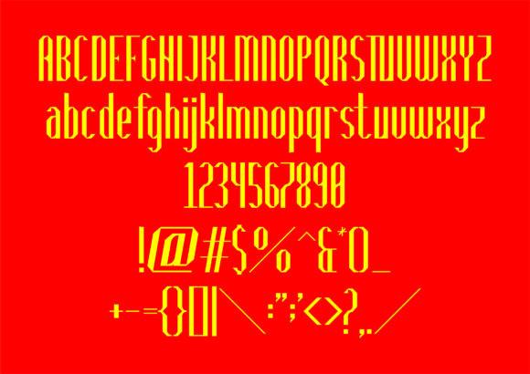Bounija Display Font