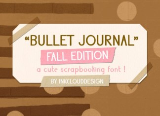 Bullet Journal Fall Font