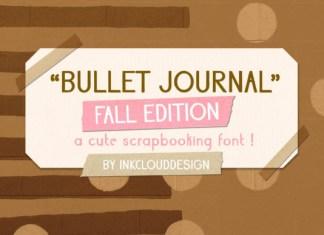 Bullet Journal Fall Font