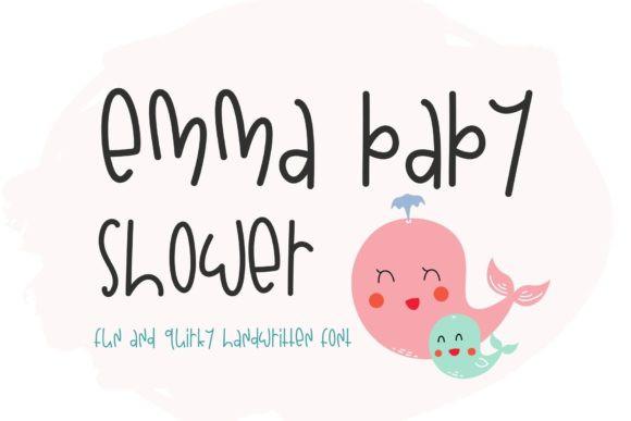 Emma Baby Shower Font