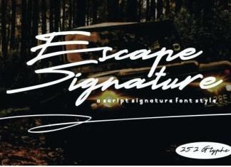 Escape Signature Font