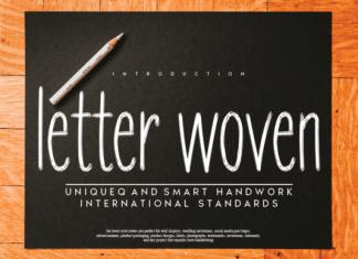 Letter Woven Font