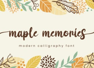Maple Memories Font