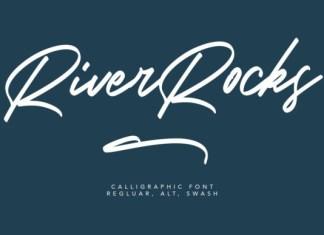 River Rocks Font