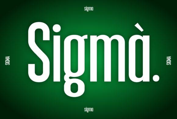 Sigma Font