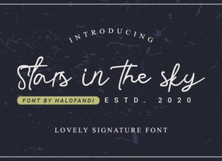 Stars in the Sky Font