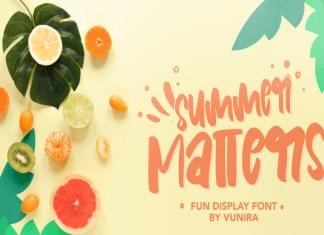 Summer Matters Font