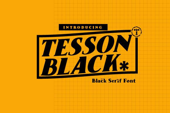 Tesson Black Font
