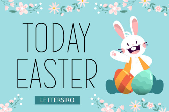Today Easter Font