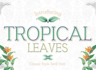 Tropical Leaves Font