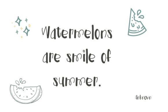 Watermelon Sweety Font