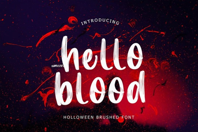 Hello Blood Font