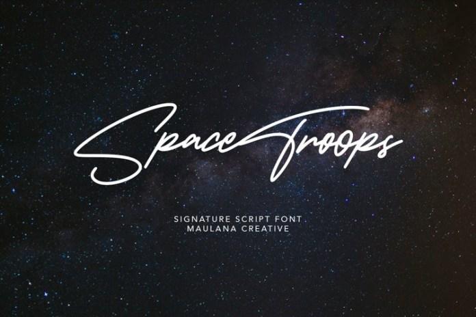 Spacetroop Font