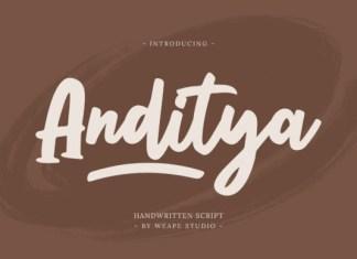Anditya Font