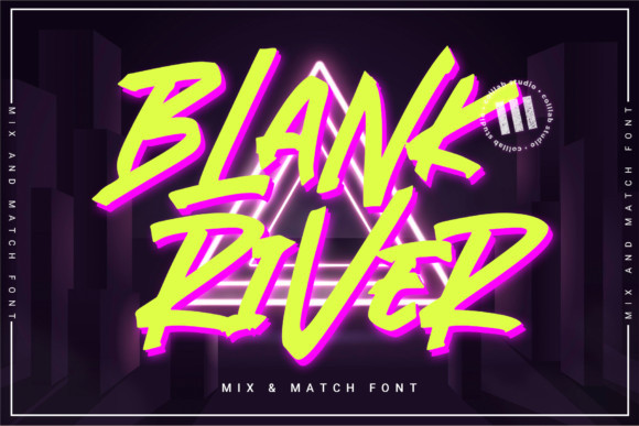 Blank River Font