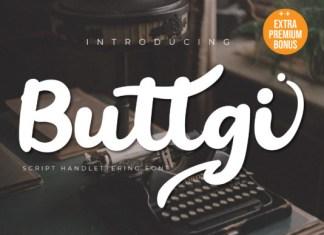 Buttgi Font
