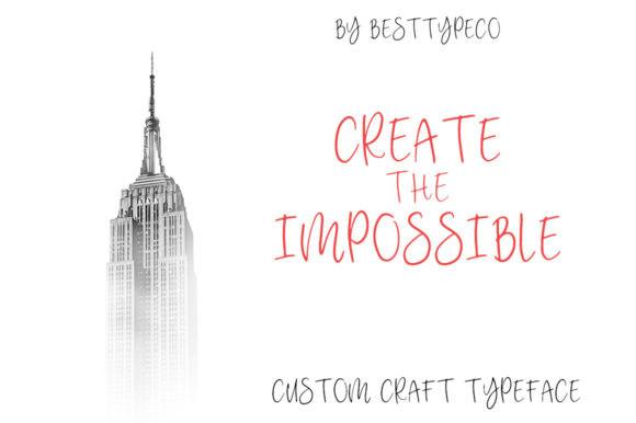 Custom Craft Font