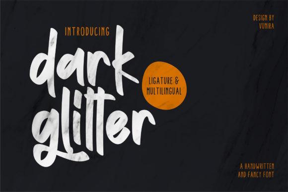 Dark Glitter Font