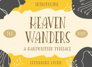 Heaven Wanders Font