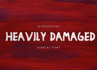 Heavily Damaged Font