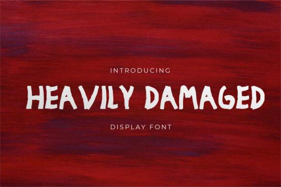 Heavily Damaged Font
