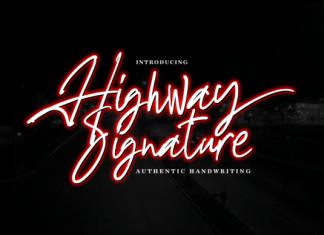Highway Signature Font
