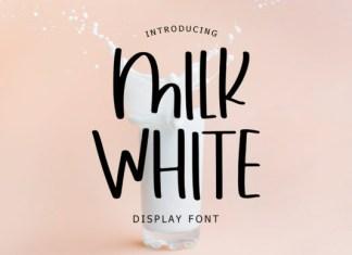 Milk White Font