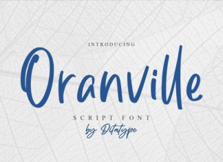 Oranville Font
