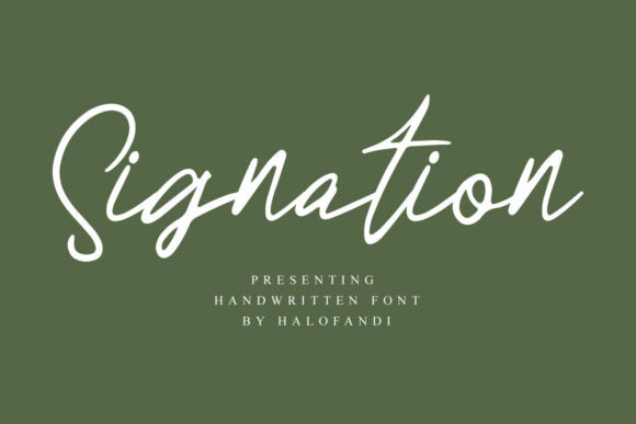 Signation Font