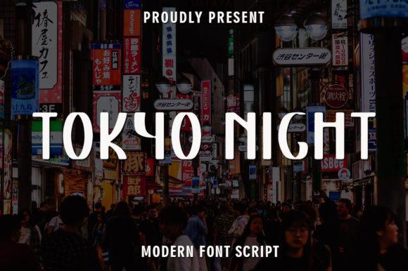 Tokyo Night Font