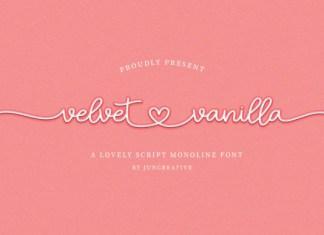 Velvet Vanilla Font