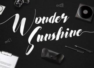 Wonder Sunshine Font