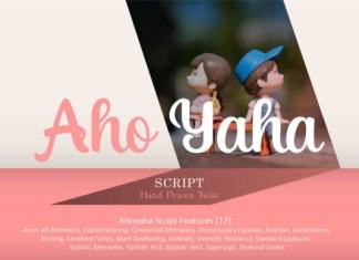 Aho Yaha Font