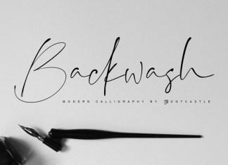 Backwash Font