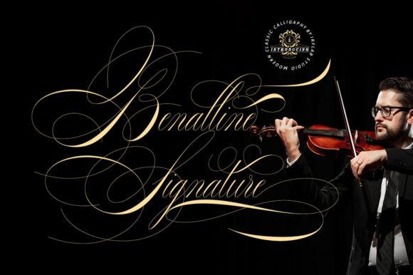 Banalline Signature Font