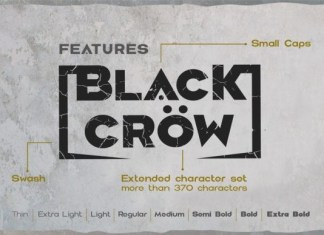 Black Crow Font