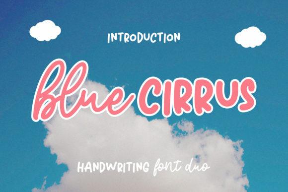 Blue Cirrus Font